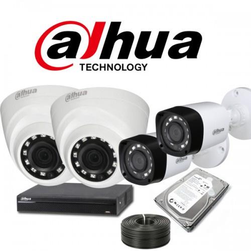 Kit HDCVI de Video Vigilancia de 4 Cámaras con Instalación ...